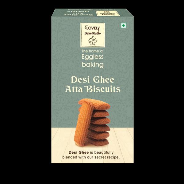 Desi Ghee Atta Biscuits (350 gms)
