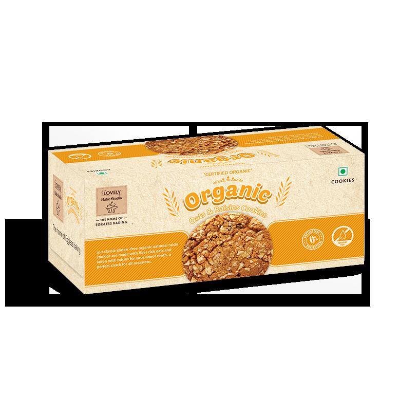 Orgnaic Oats & Raisins Cookies