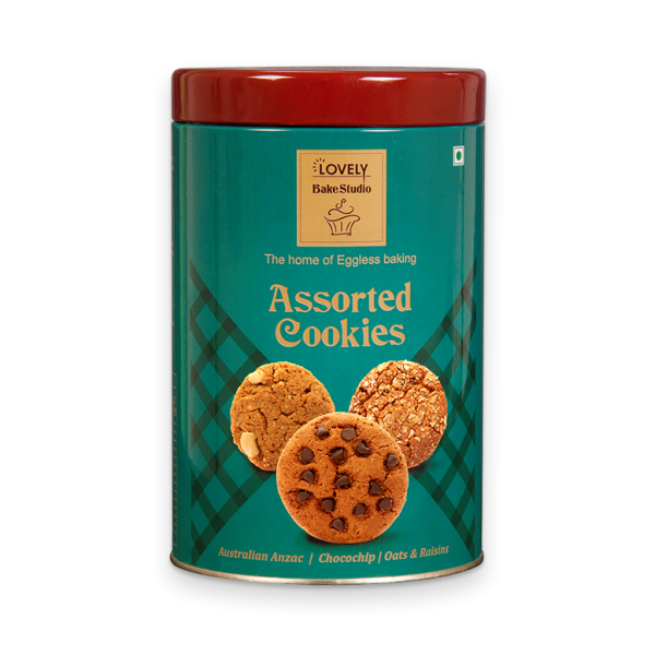 Assorted Cookies (Australian Anzac, Chocochip, Oats & Raisins) 250g