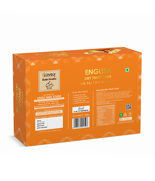 English Dry Fruit Cake (250 gms)